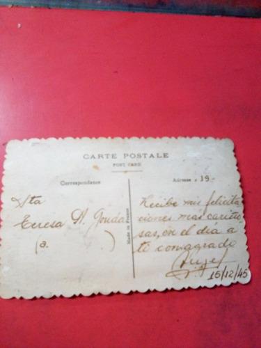 una hermosa tarjeta española año 1945