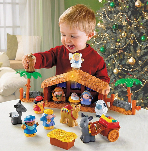 una historia de navidad little people de fisher-price