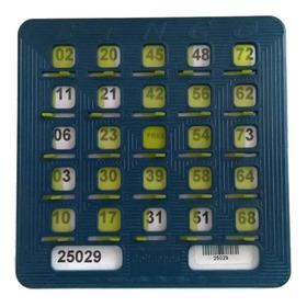 Una Tabla Plástica Para Bingo Profesional Codigo Barras