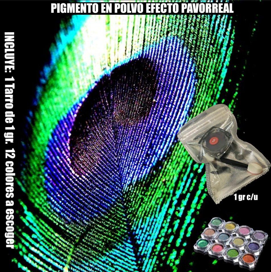 Uñas Polvo Pigmento Efecto Pavo Real De 1gr - $ 139.00 en Mercado Libre