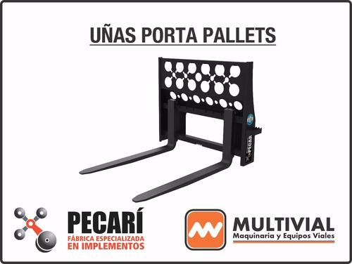 uñas portapallets implemento p/ mini cargadoras