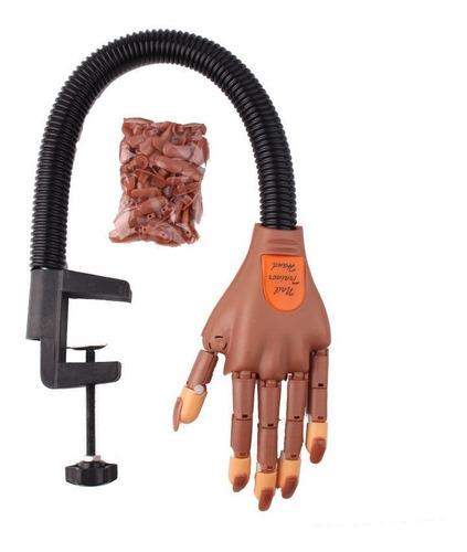 uñas postizas para decoración + mano practica manicure