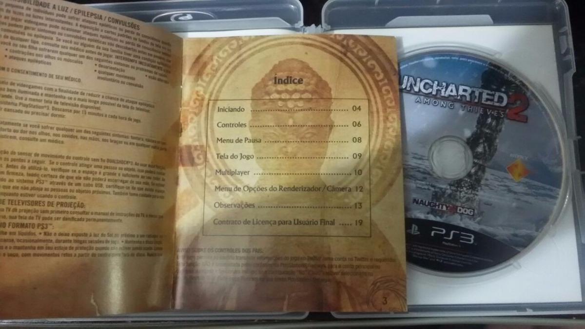 uncharted 2 among thieves capa manual portugu s ps3 r 47 00 em rh produto mercadolivre com br Idioma Em Portugues manual do playstation 3 em portugues