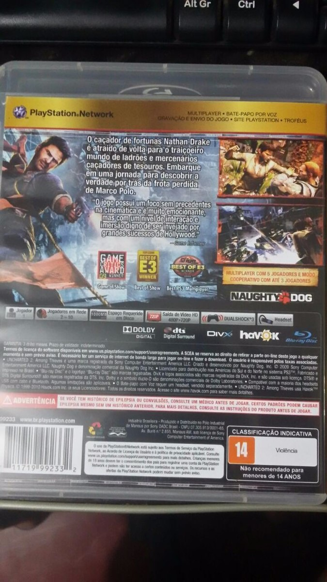 uncharted 3 game manual