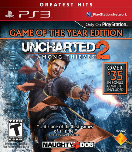 uncharted 2: among thieves - game of the year edition. ps3.