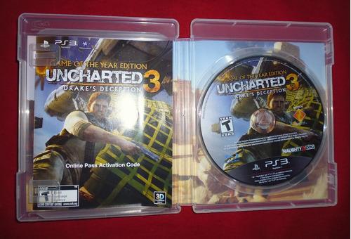 uncharted 3: drake's deception goty - ps3 perfecto estado