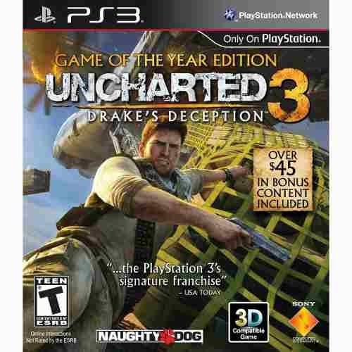 uncharted 3 drakes deception ps3 fisico usado blu ray.