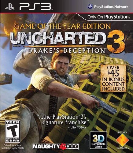 uncharted 3 ps3 fisico sellado envío grátis.
