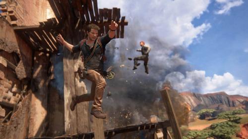 uncharted 4 a thief's end ps4 mídia física novo reembalado