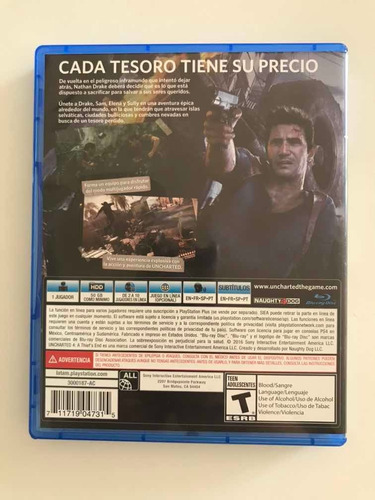 uncharted 4 fisico ps4