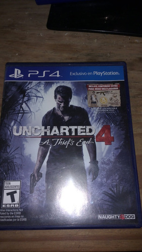 uncharted 4 ps4, únicamente permuto