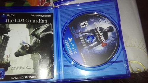 uncharted 4 ps4/videojuego nuevo ps4