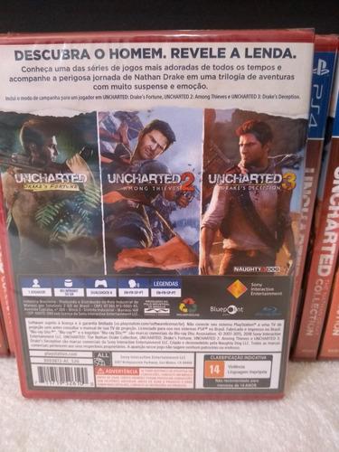 uncharted collection ps4 100% português mídia física novo