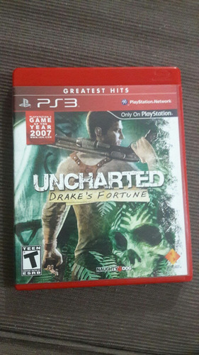 uncharted drake's fortune ( jogo original playstation 3 )