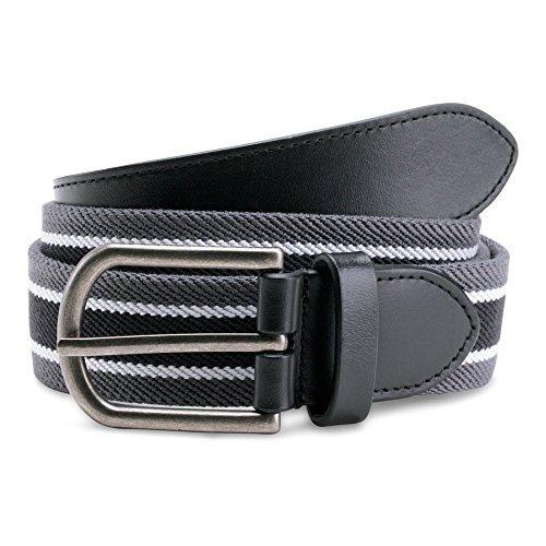 under armour - cinturón de cintura, rhino gris-negro, 36