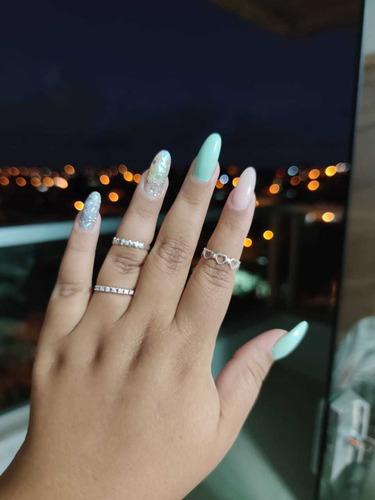 unha de gel ana carolina blue nails designer