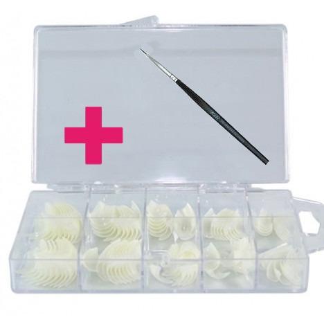 unha postiça para acrigel nail tips 200 unid + brinde pincel