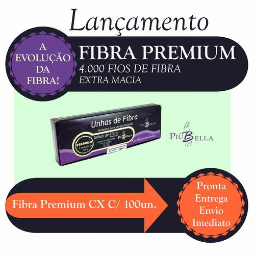 unhas de fibra primer first kiss + fibra premium piubella