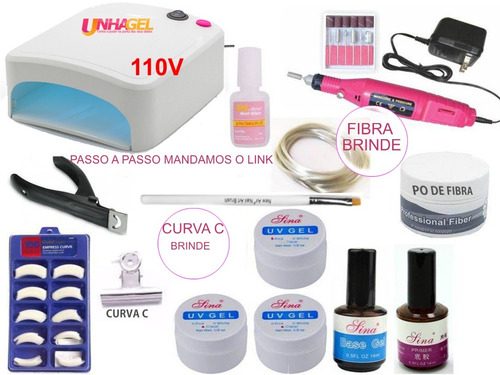 unhas gel kit
