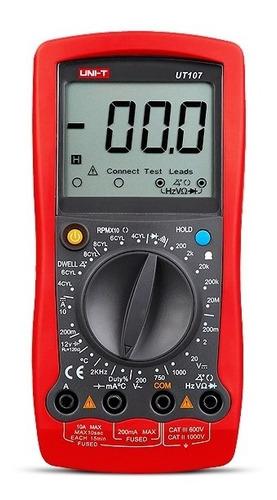 uni-t multimetro tester automotriz automotor ut107 rpm