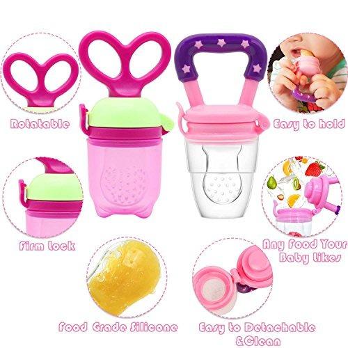 unibetter baby food feeder pacificador 2 piezas chupete clip