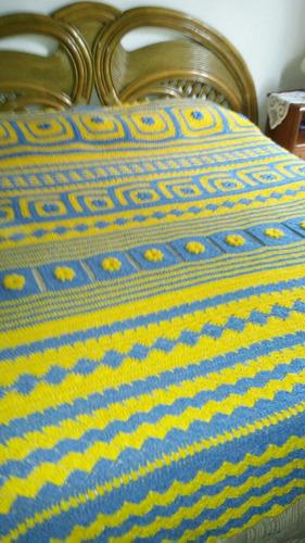 única colcha - manta tejida en crochet