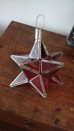 única! lámpara vitreaux artesanal de marruecos