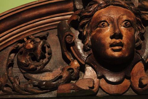 unica pieza original figura tallada madera siglo xix