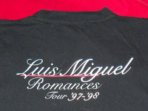 unica remera oficial 97-98 romances luis miguel 1mdoctstes