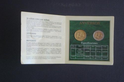 unicef 1946-1996 blister de monedas conmemorativas