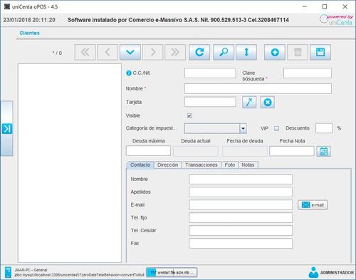 unicenta opos (openbravo pos) v4.6 -software pos-v-completa