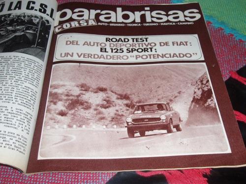 unico road test fiat 125 sport cupe  revista corsa