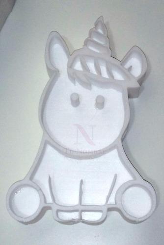 unicornio 30 cm figura huecas polyfan letras belgrano golosi