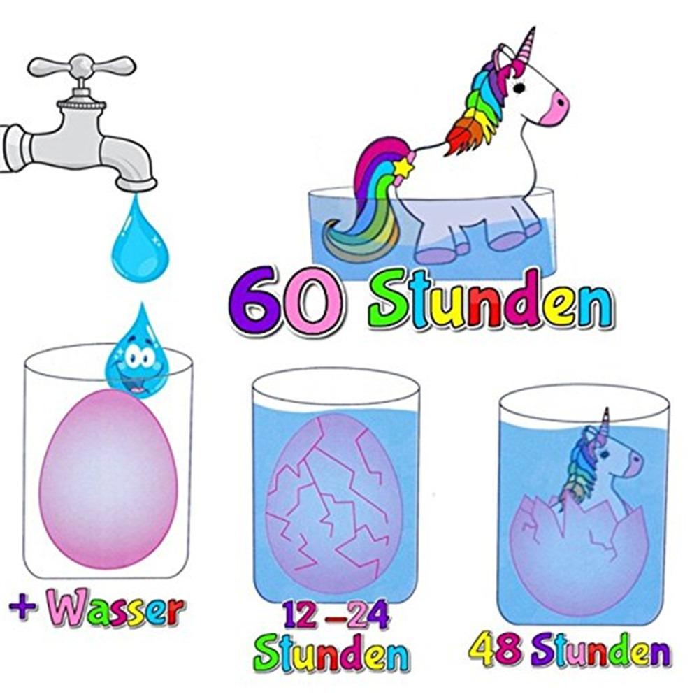 Unicornio Agua Creciente Eclosión Huevo Colorido 8289 En