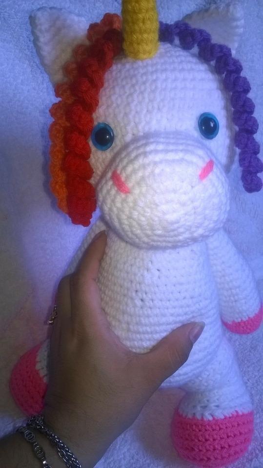 Unicórnio Grande Boneco Amigurumi Crochê - R$ 149,99 em Mercado Livre | 959x539