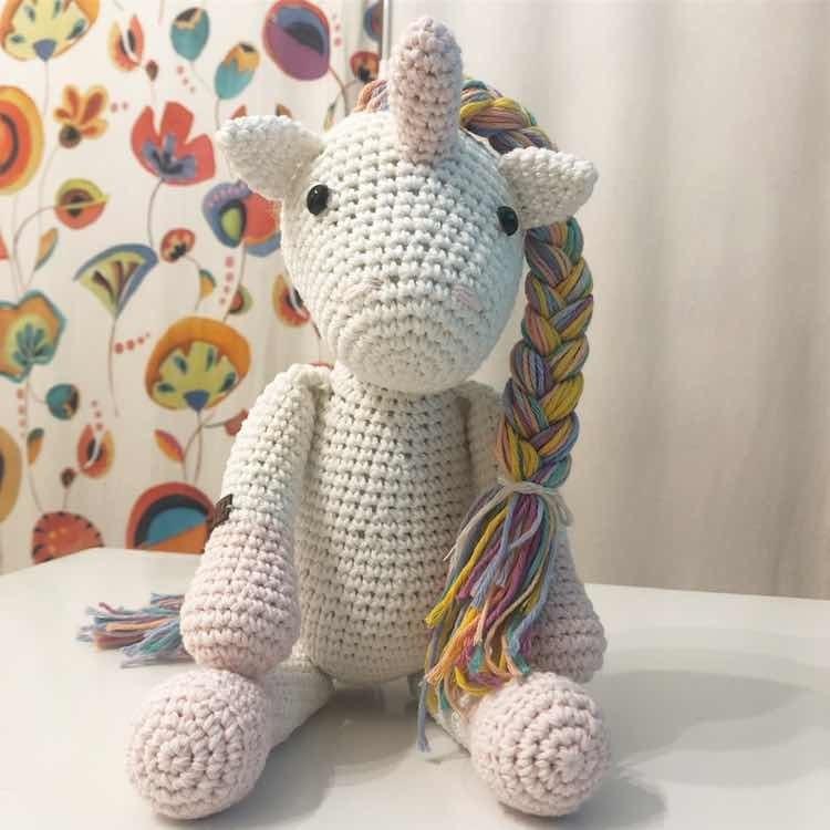 Unicornio Amigurumi Crochet - Peluches en Bs.As. G.B.A. Sur para ... | 750x750
