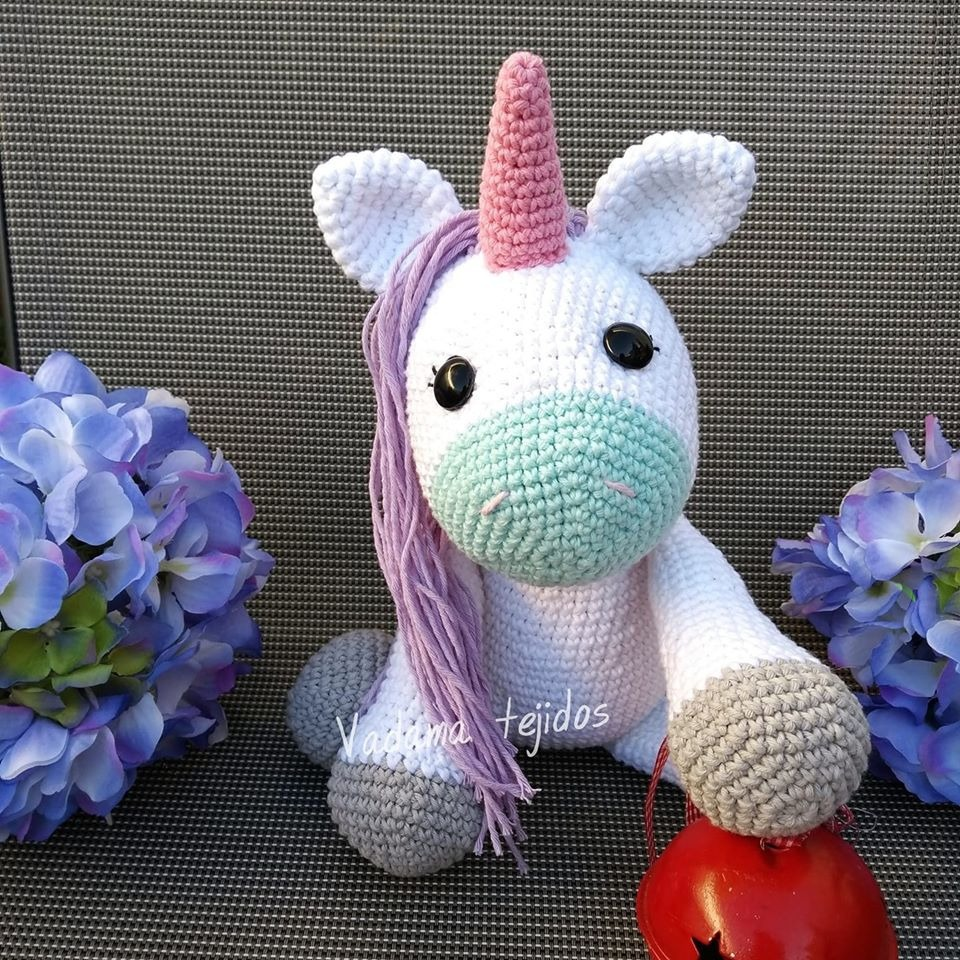 ITEM DETAILS: This listing is for a Mini Unicorn crochet pattern ... | 960x960
