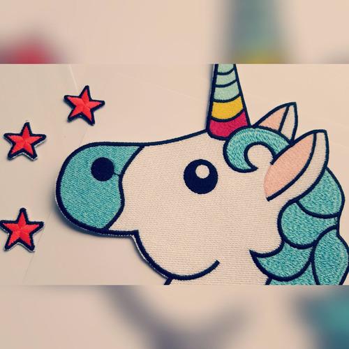 unicornio bordados, parches, apliques
