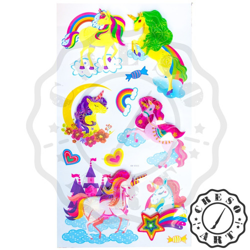 unicornio calcomanias stickers vinil paredes etiquetas m5