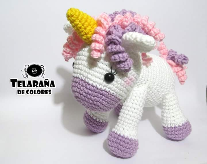 Unicornio Caramelo Amigurumi Tejido Envio Gratis - $ 650.00 en ...