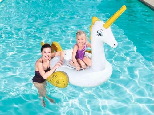 unicornio chico inflable flotador pileta bestway 41104 full