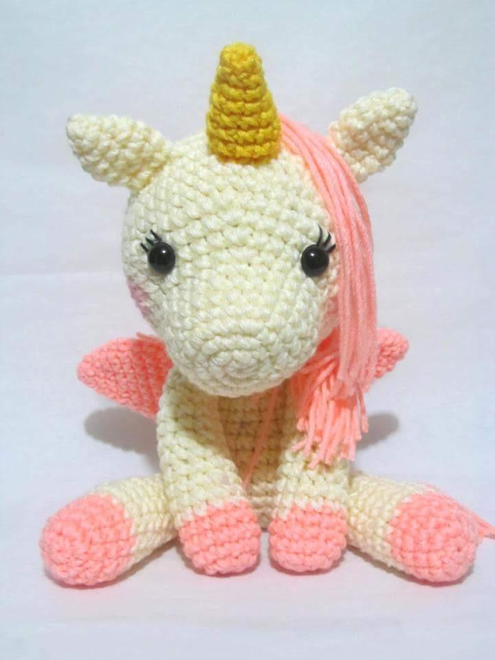 Unicornio de crochet amigurumi unicornio unicornio | Etsy | 960x720