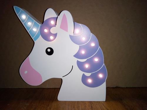 unicornio con luz led inalambrica 25cm