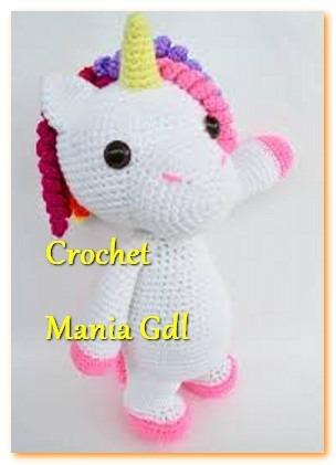 vivir vintage: Como tejer un hermoso unicornio en crochet ... | 421x304