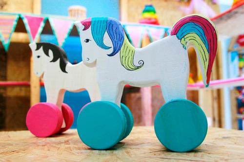 unicornio de madera / juguete waldorf / regalo original