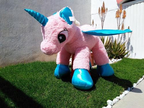 unicornio de peluche gigante 1 metro rosa