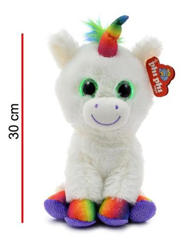unicornio de peluche interactivo con ojos con luces y sonido