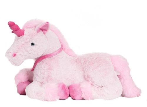 unicornio de peluche rosa eitan funny land 70 cm