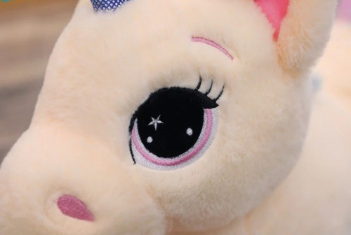 unicórnio de pelúcia 60cm almofada bebe fofinho