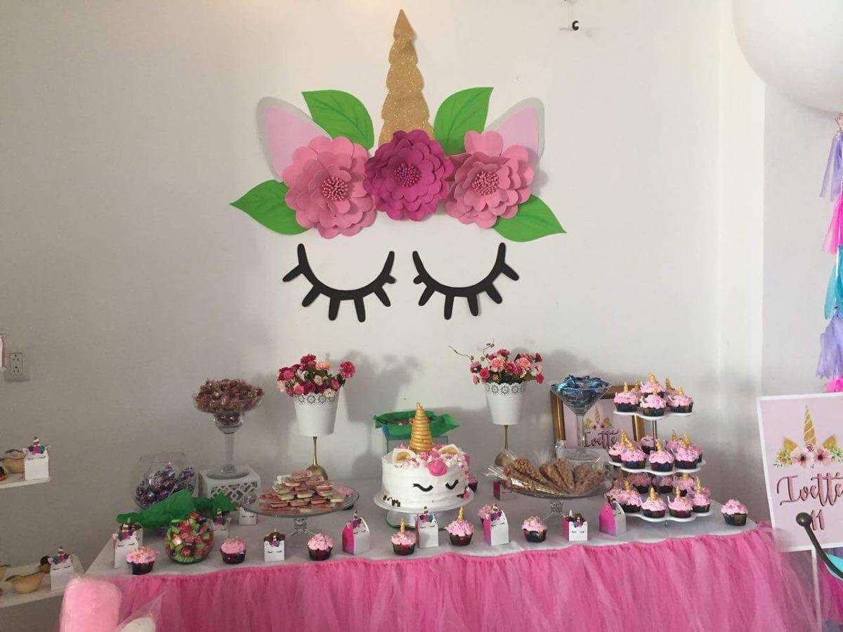 Unicornio decoraci n para mesa de dulces en for Decoracion para la pared de unicornio